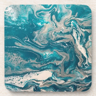Turquoise Abstract Coasters (set of 6)