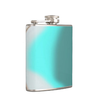 Turquoise Abstract Flask
