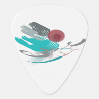 Turquoise Abstract Guitar Pick