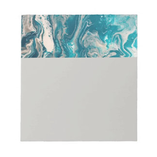 Turquoise Abstract Note Pad