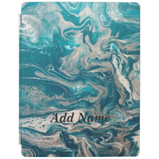 Turquoise Abstract Personalized iPad Case iPad Cover