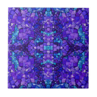 Turquoise and Amethyst Tile