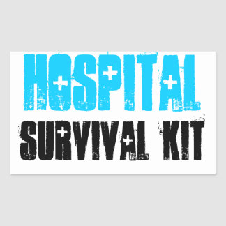 Turquoise and Black Hospital Survival Kit Labels