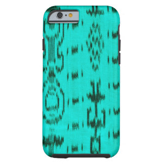 Turquoise and black ikat tough iPhone 6 case