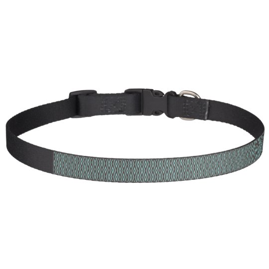 Turquoise and Brown dog collar - 15 Diamond Row 10