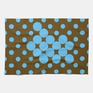 Turquoise and brown polka dots placemat kitchen towel