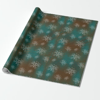 Turquoise and brown retro butterfly pattern