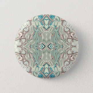 Turquoise And Copper Blend 2 Inch Round Button