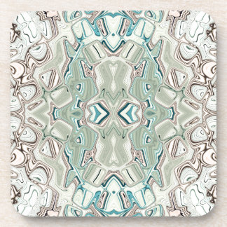 Turquoise And Copper Blend Coaster