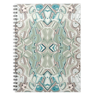 Turquoise And Copper Blend Spiral Notebook