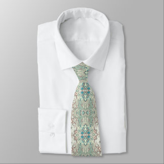 Turquoise And Copper Blend Tie