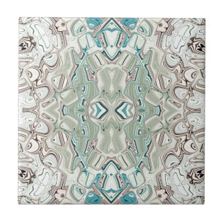 Turquoise And Copper Blend Tile