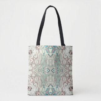 Turquoise And Copper Blend Tote Bag