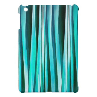 Turquoise and Cyan Ocean Stripy Lines Pattern iPad Mini Case