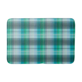 Turquoise and gray in a cage bath mat