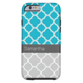 Turquoise and Gray Pattern iPhone 6 Case