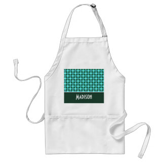 Turquoise and Green Polka Dots Apron