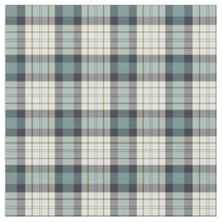 Turquoise and Navy Blue Rustic Plaid Fabric