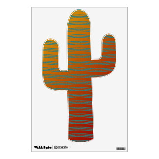 Turquoise  And Orange Cactus Southwest Design Wall Decal