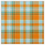 Turquoise and Orange CM Custom Fabric