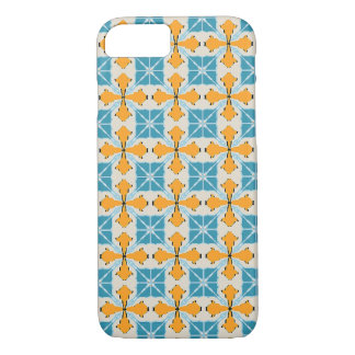 turquoise and orange graphic reasons iPhone 8/7 case