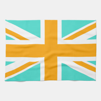 Turquoise and Orange Union Jack Kitchen Towel