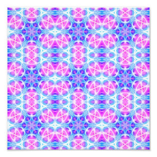 Turquoise and Pink Hippie Mandala Pattern Art Photo