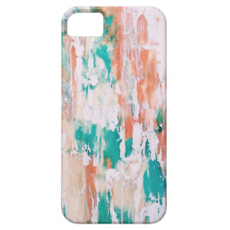 Turquoise and Pink Marble Pattern iPhone 5 Covers