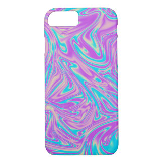 Turquoise and Purple Liquid Whirl iPhone 8/7 Case