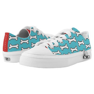 Turquoise and Red Dog Bone #GOFORTH Low-Top Sneakers