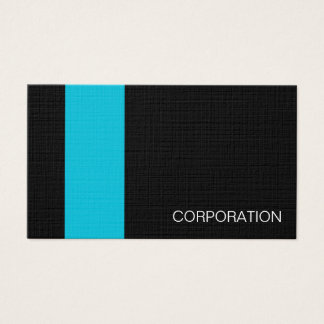 Turquoise and striped black modern business card
