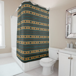 Turquoise  And Tan Aztec Pattern