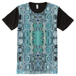 Turquoise And Teal Reflections All-Over-Print T-Shirt