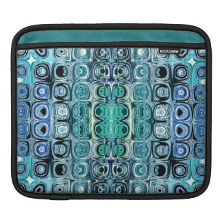 Turquoise And Teal Reflections iPad Sleeve