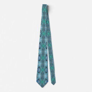 Turquoise And Teal Reflections Tie