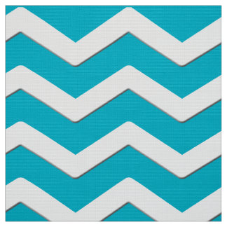Turquoise and White Chevron Fabric or YOUR COLOR