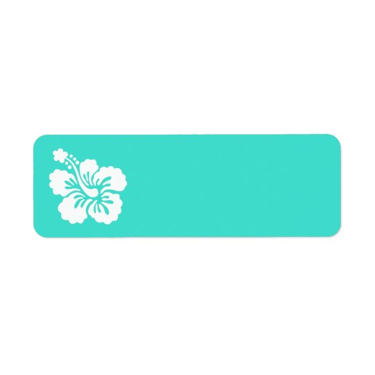 Turquoise and White Hibiscus