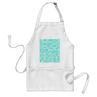 Turquoise and White Marbled Mottled Swirls Clouds Standard Apron