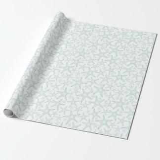 Turquoise and White Starfish Pattern