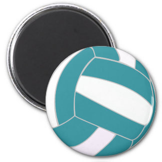 Turquoise and White Volleyball Magnet