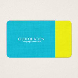 Turquoise and yellow classy business card