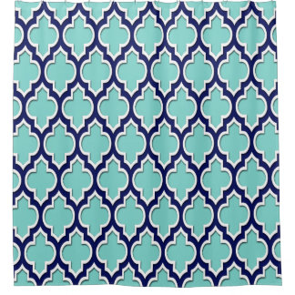 Turquoise Aqua Navy Blue White XL Moroccan #4DS