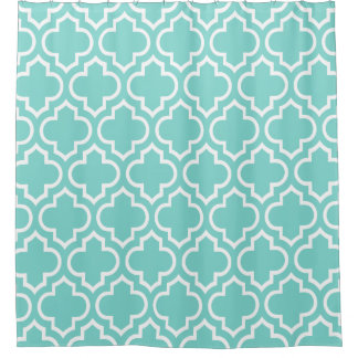 Turquoise Aqua White Moroccan #6 Pattern