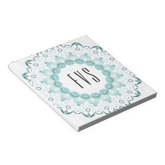 Turquoise Art Deco Design Notepad