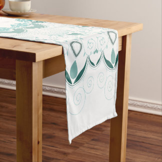 Turquoise Art Deco Design Short Table Runner