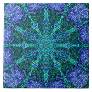 Turquoise Azure Mosaic Tile