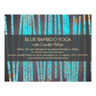 Turquoise Bamboo Yoga  Nature Health Spa Wood Flyer Design