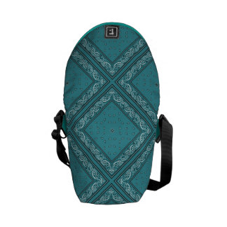 Turquoise Bandana Courier Bags