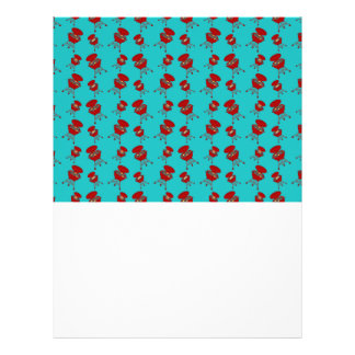 turquoise barbeque pattern flyers