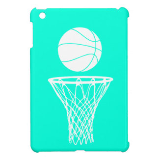 Turquoise Basketball iPad Mini Case